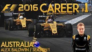 F1 2016 Game Career Mode - Part 1 AUSTRALIAN GRAND PRIX (PS4 Gameplay)