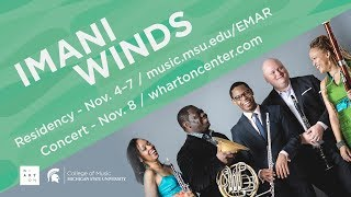 MSU FEDERAL CREDIT UNION Entrepreneurial Musical Artist in Residence Program | Imani Winds