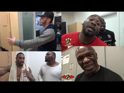 MAYWEATHER GYM IN CRAZY DEBATE ON REACTION TO KEITH THURMAN VS DANNY GARCIA FIGHT!