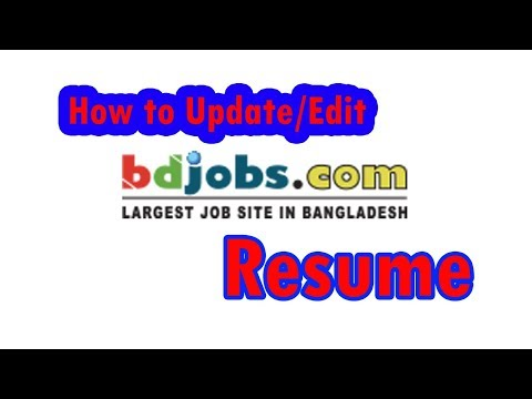 How to update bdjobs resume 2018, bdjobs cv/resume edit, change any info/photo easily (Nayan Mia)