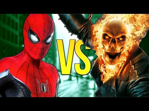 ЧЕЛОВЕК-ПАУК VS ПРИЗРАЧНЫЙ ГОНЩИК   СУПЕР РЭП БИТВА   Spider-Man Marvel ПРОТИВ Ghost Rider Movie