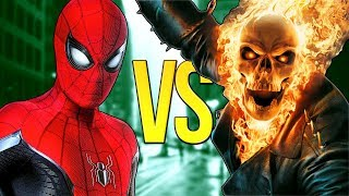 ЧЕЛОВЕК-ПАУК VS ПРИЗРАЧНЫЙ ГОНЩИК | СУПЕР РЭП БИТВА | Spider-Man Marvel ПРОТИВ Ghost Rider Movie