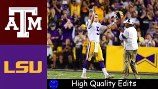 Texas A&M vs #2 LSU Highlights | NCAAF Week 14 | College Football Highlights