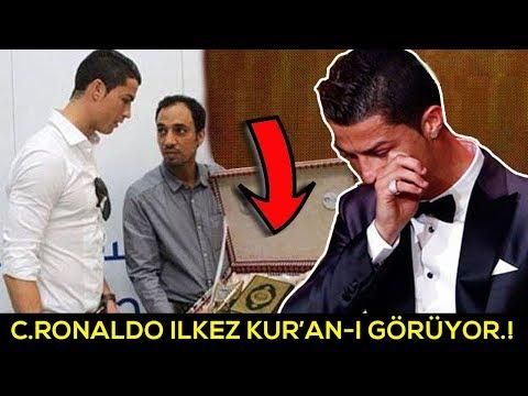 Cristiano Ronaldo İlk Kez Kuran'ı Kerim'i Görüyor. Tepkisine Sizde inanmayacaksınız.