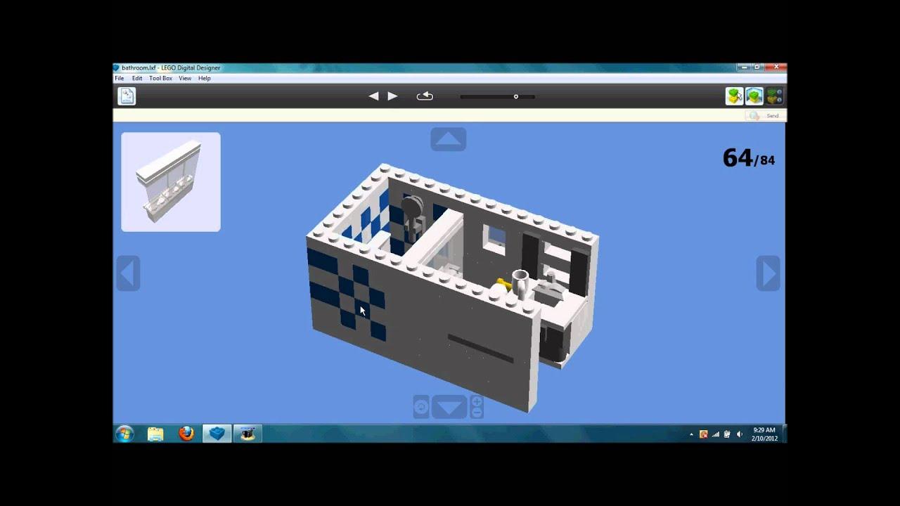 Bathroom cabinet toilet - How To Make A Lego Bathroom Youtube