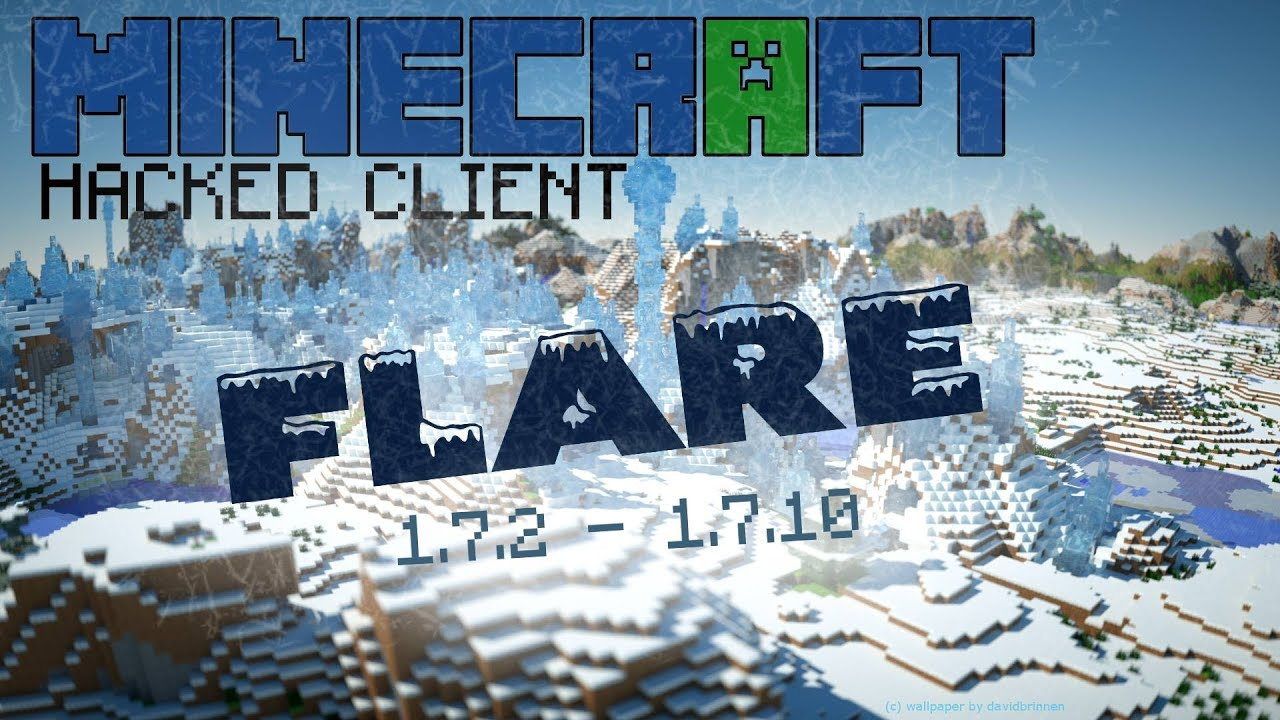 Minecraft hacked client] flare 3. 7 w/ download youtube.