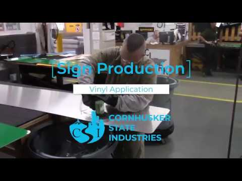 The making of a road sign from Cornhusker State Industries