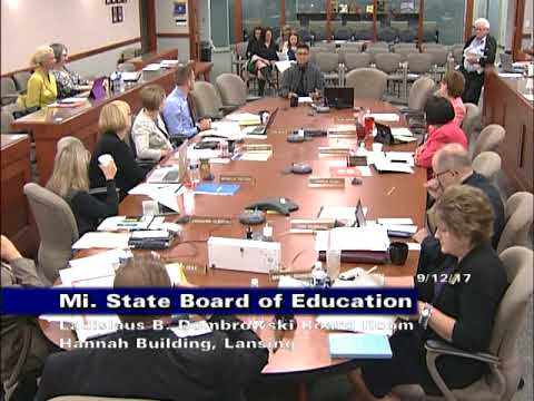 Michigan state board of education meeting for september 12 2017 michigan state board of education meeting for september 12 2017 afternoon session sciox Choice Image