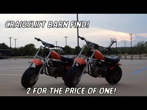 Mini Bike Barn Find: 2 For $400! - YouTube