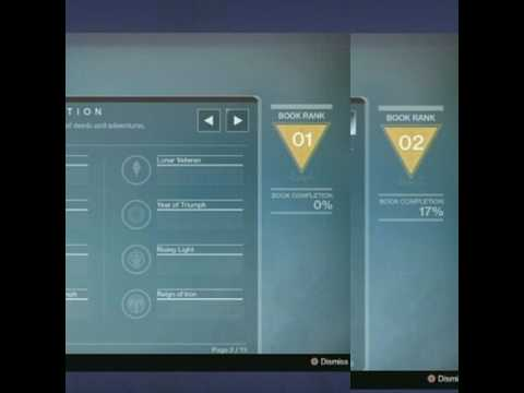 destiny age of triumph book pages - youtube