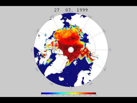 Arctic Sea Ice Extent 9th December 1991 to 31st December 2014