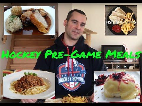 best pre hockey game meal