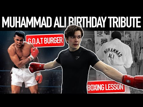 Eating & Training Like Muhammad Ali | BIRTHDAY TRIBUTE | Boxing Lesson + Favourite Cheat Meal