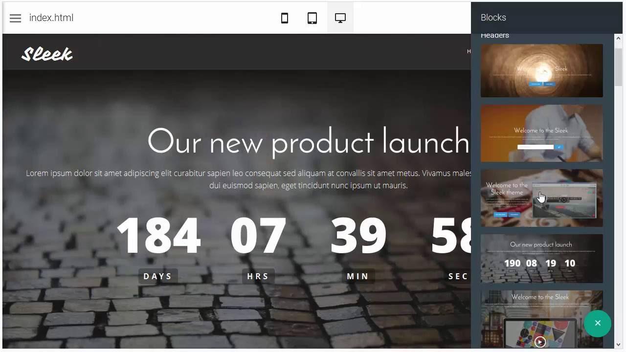Sleek Website Template | Responsive Layout Maker - YouTube