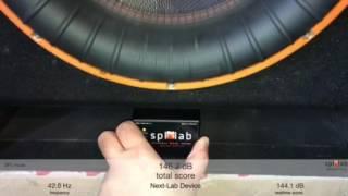 Subwoofer SPL measure on Spl-Lab Wireless Bass Meter onscreen score!
