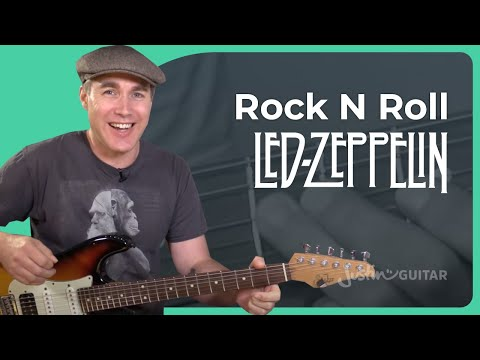 How to play Rock n Roll by Led Zeppelin - Rock Guitar Lesson Tutorial