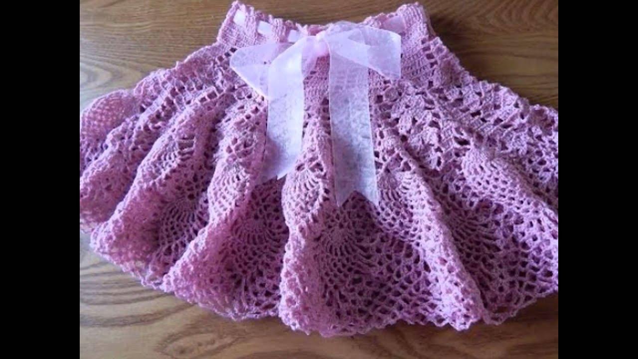 Falda para ni a tejidas a crochet ganchillo dise os for Disenos de faldas