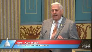 Sen. Horn defends Senate role in managing emergencies