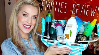 Empties Review! Skincare + Haircare + MANY Mascaras! Thumbnail