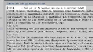 Moodle 2.0 - El editor HTML (1ª parte)