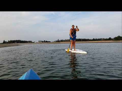 My First Time: Kim Bennett tries paddleboarding - Fit Maine