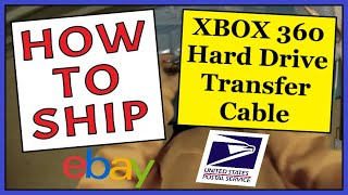 How To Ship an XBOX 360 Hard Drive Transfer Cable | Fast, Easy & Cheap | USPS First Class Shipping