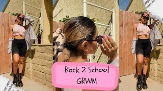 Back To School GRWM College Senior Edition 2019 | Makeup + Outfit