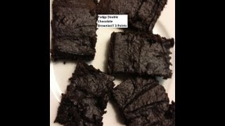 Moist Weight Watchers Friendly Double Dark Chocolate Fudge Brownies Recipe!!