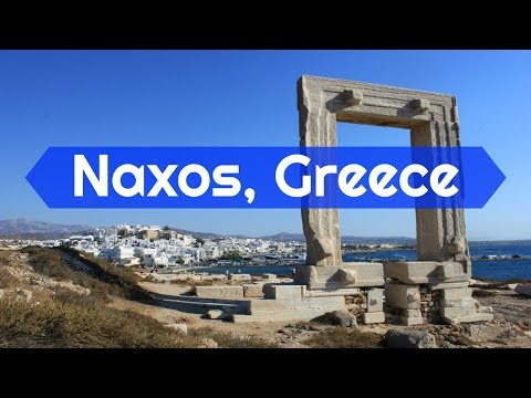 Apollo's Gate and Old Market in Naxos, Greece