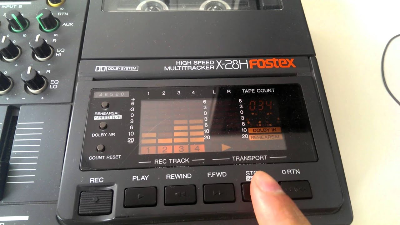 fostex x 28h multi tracker filmed with the htc one youtube rh youtube com Fostex MR16 Fostex Mr 8