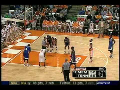 Tennessee Beats Memphis in Knoxville  - Lofton Scores 34 (2006-2007)