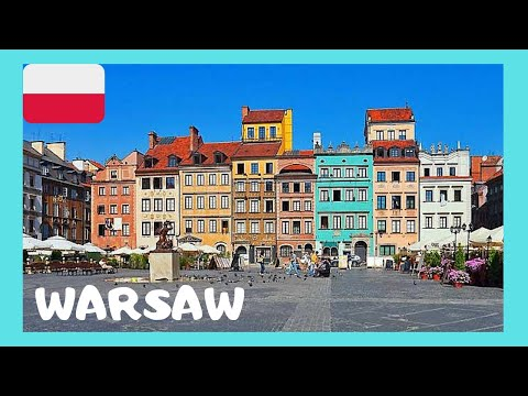 WARSAW, EXPLORING the wonderful and very HISTORIC OLD TOWN SQUARE  (POLAND)