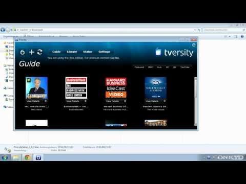 ONKYO DLNA Mit TVersity Unter Windows (Netzwerk AV Receiver UPnP Streaming)