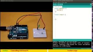 13. Interfacing LED and controlling through Arduino serial communication