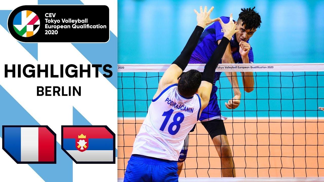 Download France vs. Serbia - Highlights | CEV Men's Tokyo Volleyball Qualification 2020