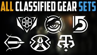 The Division | All Classified Gearsets & My Thoughts On Them | Patch 1.7