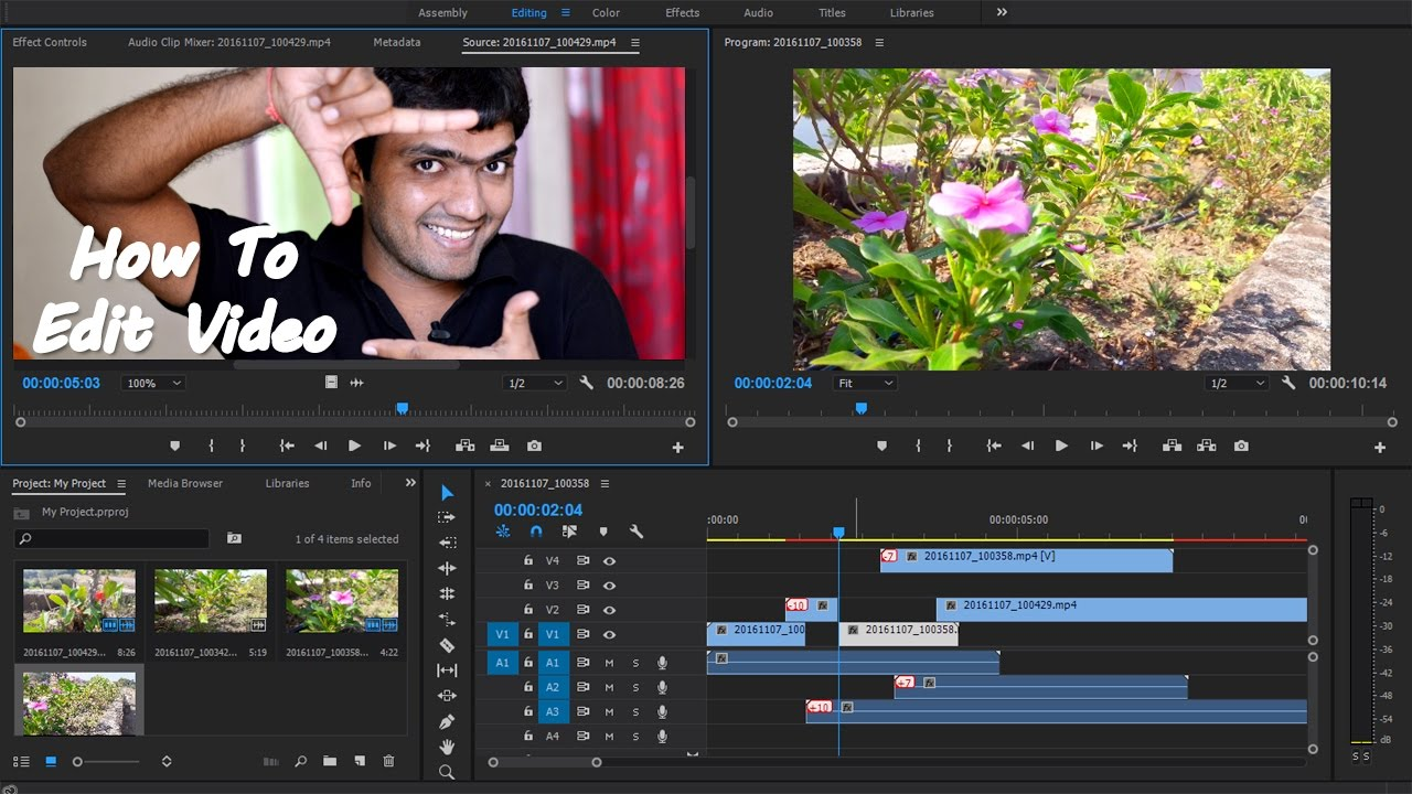 #ep01 How To Edit Video  Premiere Pro Tutorial For Beginners [hindi]