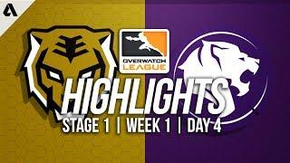 Seoul Dynasty vs LA Gladiators ft Fleta Surefour | Overwatch League Highlights OWL Week 1 Day 4