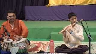 Bansuri concert by Ma.Shashanka Subrahmanya at Sri Ramachandrapura Mutt,Mani. Part 1