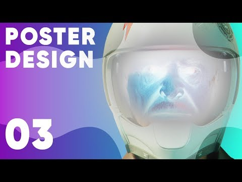 Free-styling a Poster in Photoshop | Graphic design tutorial thumbnail