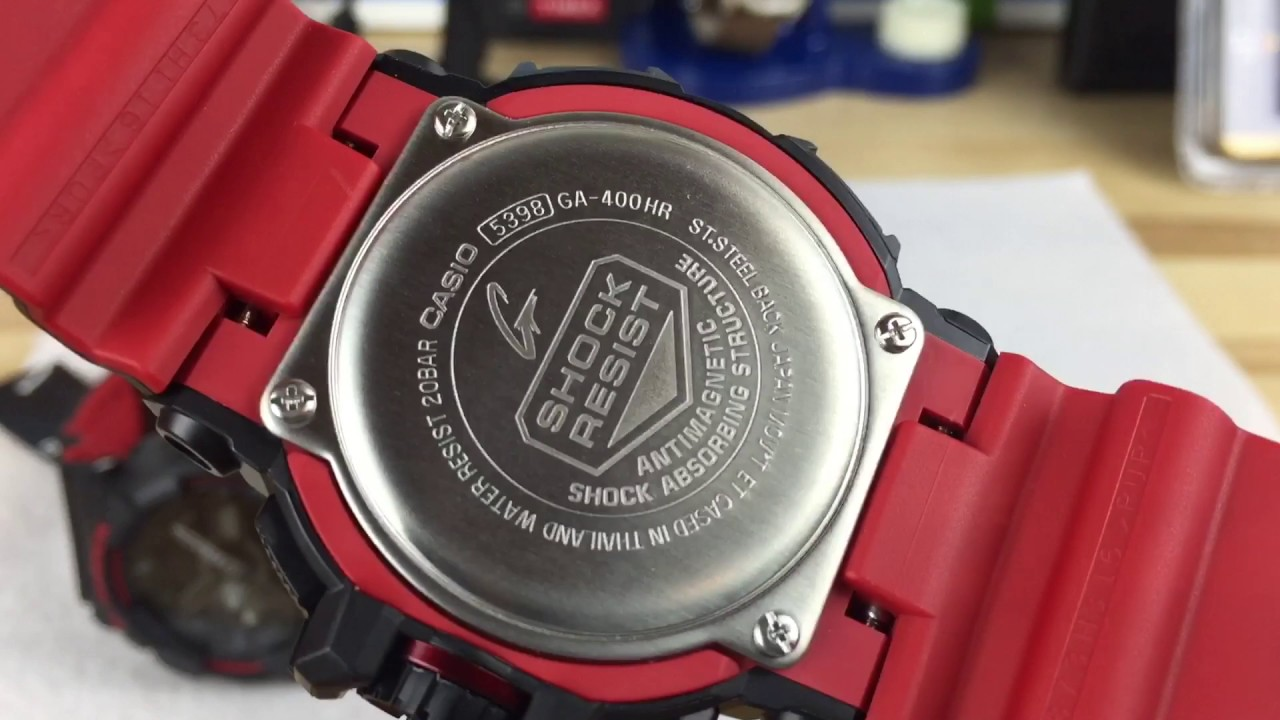 Casio G Shock Black Red Layered Black Red Layer Youtube