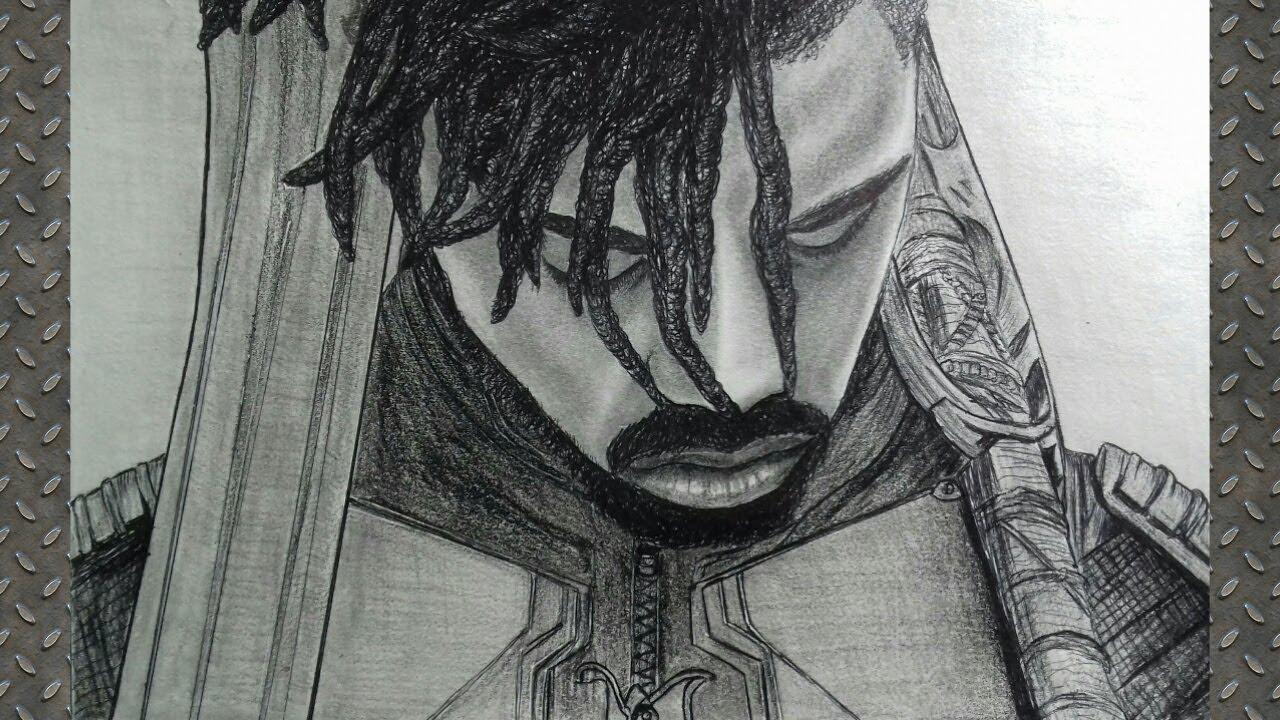Michael B. Jordan Drawing  Black Panther Movie   Pencil ...