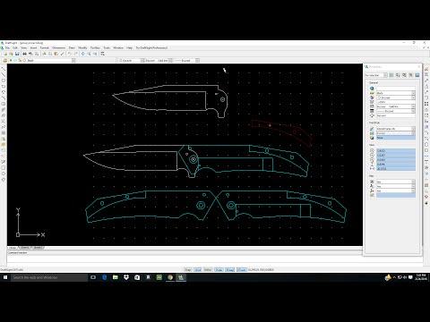 Designing a frame lock knife on Draft Sight. Full tutorial