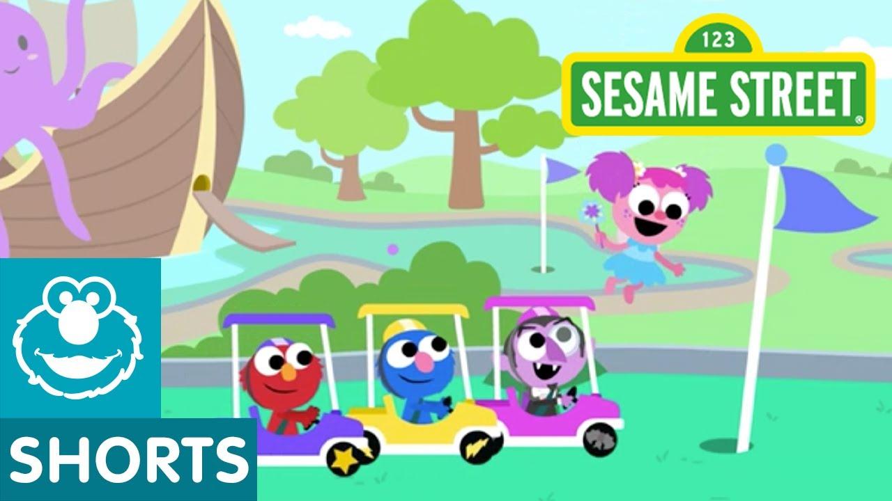 Sesame Street: Mini Golf Course Track | Magical Car Races #8