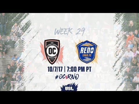 USL LIVE - Orange County SC vs Reno 1868 FC 10/7/17