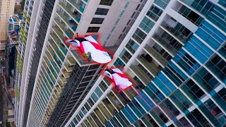 REAL LIFE SUPERHEROES FLY THROUGH BUILDINGS - WORLD RECORD