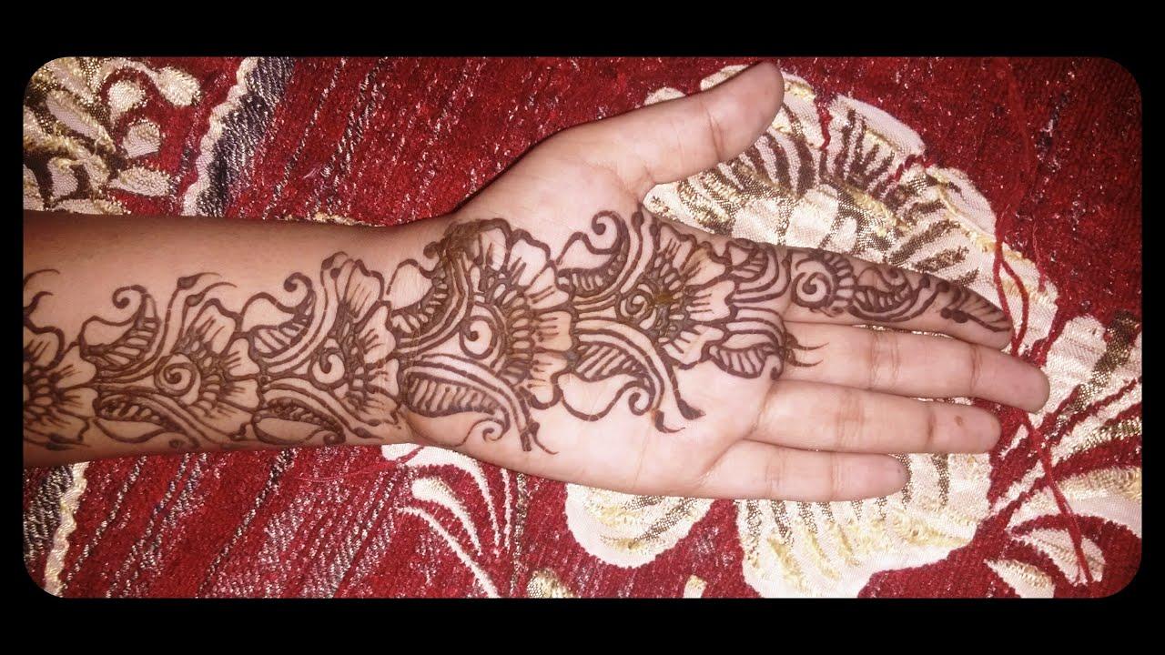 Top 10 beautiful arabic mehndi design art - Simple Easy Arabic Henna Design Beautiful Arabic Mehndi Design Youtube