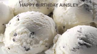 Ainsley   Ice Cream & Helados y Nieves - Happy Birthday