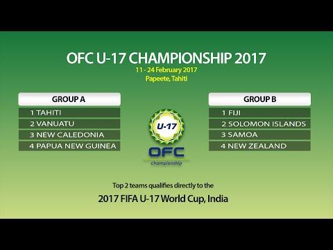 2017 OFC U-17 CHAMPIONSHIP DRAW