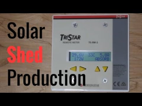 New (Redone) Solar Shed Energy Production